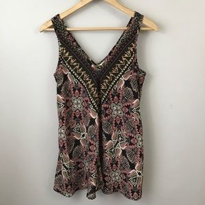 Xhilaration Embellished Sleeveless Flowy Blouse